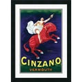 Amanti Art in.Cinzano Vermouthin. Framed Print Art, 24 1/2in. x 18in.