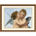 Amanti Art William Adolphe Bouguereau in.The First Kissin. Framed Print Art, 21.88in. x 25.88in.
