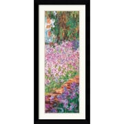 "Amanti Art Claude Monet ""Garden in Giverny (Detail)"" Framed Art, 42.62"" x 19.38"""