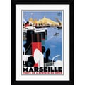 Amanti Art Roger Broders in.Marseille Portin. Framed Print Art, 31.5in. x 22.38in.