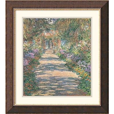 """""Amanti Art Claude Monet """"""""Garden in Giverny"""""""" Framed Art, 26"""""""" x 23 3/4"""""""""""""" 966706"
