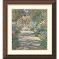 Amanti Art Claude Monet in.Garden in Givernyin. Framed Art, 26in. x 23 3/4in.