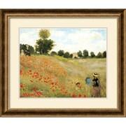 """Amanti Art Claude Monet """"Poppies at Argenteuil, 1873"""" Framed Art, 24 3/4"""" x 28 3/4"""""""