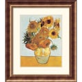 Amanti Art Vincent Van Gogh in.Sunflowers on Blue, 1888in. Framed Print Art, 31 1/2in. x 27 1/2in.