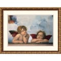 Amanti Art Sanzio Raphael in.Cherubiniin. Framed Print Art, 17.62in. x 23.38in.