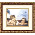 Amanti Art Sanzio Raphael in.Cherubiniin. Framed Print Art, 13.88in. x 15.88in.