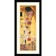 "Amanti Art Gustav Klimt ""The Kiss (Der Kuss), Detail"" Framed Print Art, 42.62"" x 20.38"""
