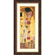 "Amanti Art Gustav Klimt ""The Kiss (Der Kuss), Detail"" Framed Print Art, 44 1/2"" x 22 1/4"""