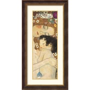 "Amanti Art Gustav Klimt ""Mother and Child (Detail)"" Framed Print Art, 43 1/2"" x 22 1/2"""