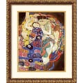 Amanti Art Gustav Klimt in.The Virgins (Sleeping Women)in. Framed Print Art, 20.88in. x 17.62in.