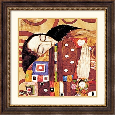 """""Amanti Art Gustav """"""""The Fulfillment (Die Erfullung), 1905-1909"""""""" Framed Print Art, 28 1/2"""""""" x 28 1/2"""""""""""""" 966689"