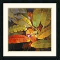 Amanti Art Jung K. An in.Tropical Leaves IIin. Framed Print Art, 22in. x 22in.