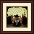 Amanti Art Diego Rivera in.El Vendedor de Alcatracesin. Framed Art, 21in. x 21in.
