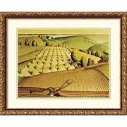 Amanti Art Grant Wood Fall Plowing, 1931 Framed Print Art, 17.88 x 21.88
