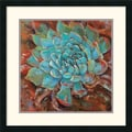 Amanti Art Jillian David Design in.Blue Agave IIin. Framed Print Art, 26in. x 26in.