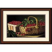 "Amanti Art L.W. Prentice ""Still Life With Berries"" Framed Print Art, 21"" x 30"""