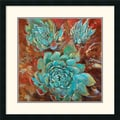 Amanti Art Jillian David Design in.Blue Agave Iin. Framed Print Art, 26in. x 26in.