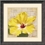 "Amanti Art Dysart ""Fabric Floral One"" Framed Print Art, 18 1/4"" x 18 1/4"""