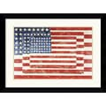 Amanti Art Jasper Johns in.Three Flagsin. Framed Print Art, 24.62in. x 32.62in.
