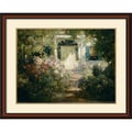 Amanti Art Abbott Fuller Graves in.Doorway and Gardenin. Framed Print Art, 31in. x 37in.