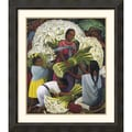 Amanti Art Diego Rivera in.The Flower Vendorin. Framed Print Art, 34.88in. x 30.38in.