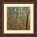 Amanti Art Gustav Klimt in.Beechwood Forestin. Framed Print Art, 25 1/2in. x 25 1/2in.