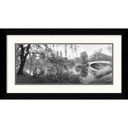 Amanti Art Bruce The Lake and Bow Bridge, Central Park, 1992 Framed Print Art, 17.62 x 31.62