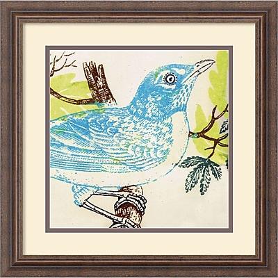 """""Amanti Art Swan Papel """"""""Bluebird"""""""" Framed Animal Art, 18 1/4"""""""" x 18 1/4"""""""""""""" 966532"