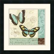 Amanti Art Pela Studio Butterfly Patchwork II Framed Animal Art, 18 x 18
