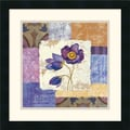 Amanti Art Silvia Vassileva in.Tiled Poppies I Purplein. Framed Print Art, 18in. x 18in.