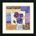 Amanti Art Silvia Vassileva in.Tiled Poppies II Purplein. Framed Print Art, 18in. x 18in.