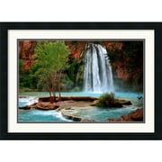 "Amanti Art Andy Magee ""Havasu Falls"" Framed Print Art, 19"" x 26"""
