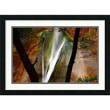 Amanti Art Andy Magee in.Calf Creek Fallsin. Framed Print Art, 19in. x 26in.