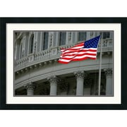 "Amanti Art Andy Magee ""Capitol Flag"" Framed Print Art, 19"" x 26"""