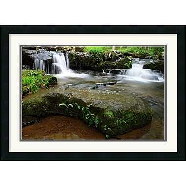 Amanti Art Andy Magee in.Collins Creek Cascadesin. Framed Print Art, 19in. x 26in.
