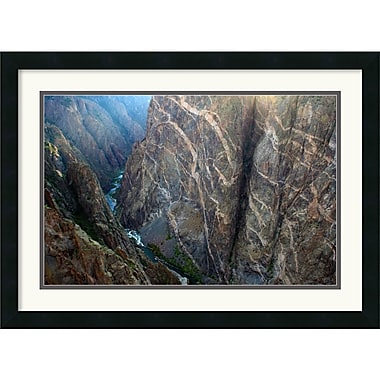 Amanti Art Andy Magee in.Black Canyon Painted Wallin. Framed Print Art, 19in. x 26in.
