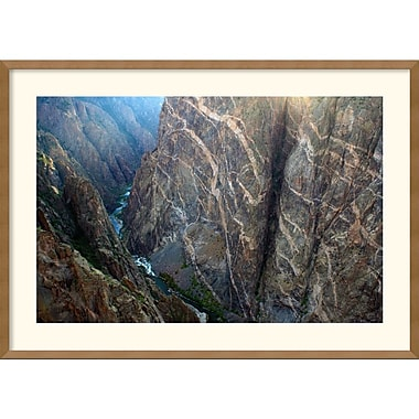 Amanti Art Andy Magee in.Black Canyon Painted Wallin. Framed Print Art, 25in. x 35in.
