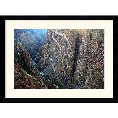 Amanti Art Andy Magee in.Black Canyon Painted Wallin. Framed Print Art, 28.62in. x 38.62in.