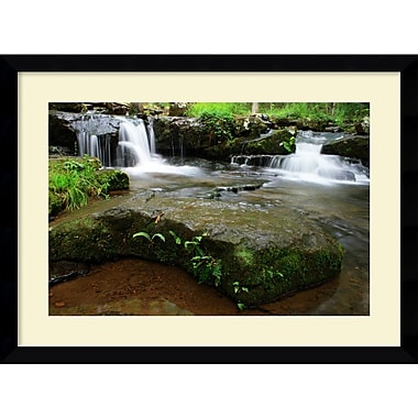 Amanti Art Andy Magee in.Collins Creek Cascadesin. Framed Print Art, 28.62in. x 38.62in.