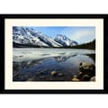 Amanti Art Andy Magee in.Grand Tetons at Jenny Lakein. Framed Print Art, 28.62in. x 38.62in.