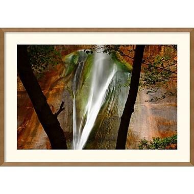 Amanti Art Andy Magee in.Calf Creek Fallsin. Framed Print Art, 25in. x 35in.