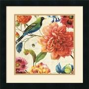 "Amanti Art Lisa Audit ""Rainbow Garden II Cream"" Framed Print Art, 18"" x 18"""