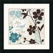 "Amanti Art Lisa Audit ""Botanical Touch Quote II"" Framed Art, 18"" x 18"""