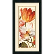 "Amanti Art Lisa Audit ""Poesie Florale Paneal I"" Framed Print Art, 26"" x 14"""