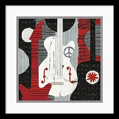"""""Amanti Art Michael Mullan """"""""Rock 'n Roll Guitars"""""""" Framed Print Art, 17"""""""" x 17"""""""""""""" 966217"