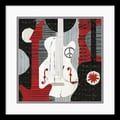 Amanti Art Michael Mullan in.Rock 'n Roll Guitarsin. Framed Print Art, 17in. x 17in.