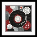 Amanti Art Michael Mullan in.Rock 'n Roll Albumin. Framed Print Art, 17in. x 17in.