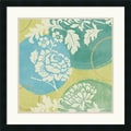 Amanti Art Veronique Charron in.Floral Decal Turquoise Iin. Framed Print Art, 25in. x 25in.