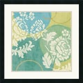 Amanti Art Veronique Charron in.Floral Decal Turquoise IIin. Framed Print Art, 25in. x 25in.