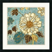 "Amanti Art Wild Apple ""Sophias Flowers II Blue"" Framed Print Art, 25"" x 25"""
